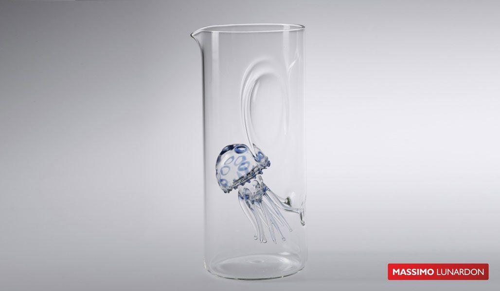 Massimo Lunardon Water Pitcher - Jellyfish (Blue)