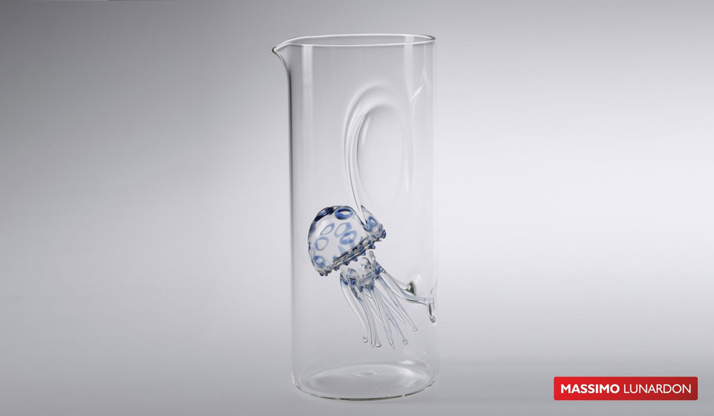 Massimo Lunardon Water Pitcher - Jellyfish (Blue and Pink)