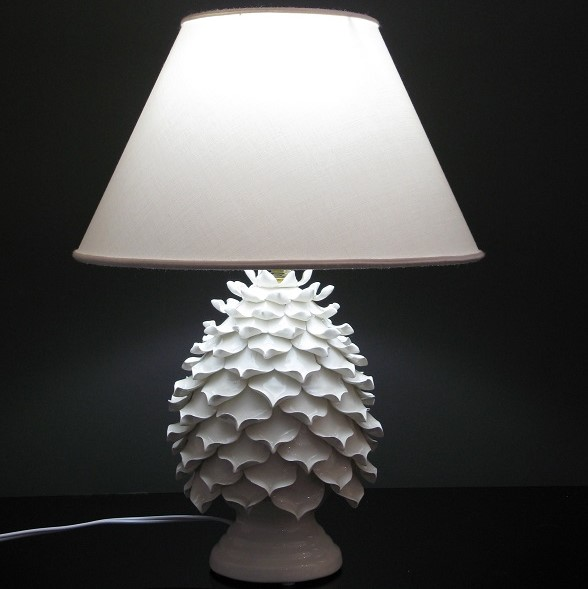 Ceramica Del Ferlaro - Open Pinecone Lamp - White