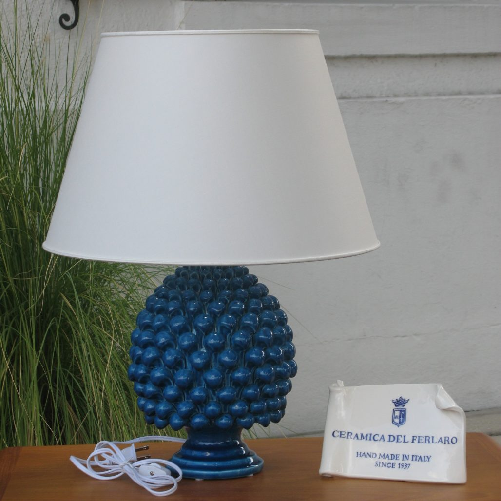 Ceramica Del Ferlaro - Pinecone Lamp (Medium) - Blue Paveri