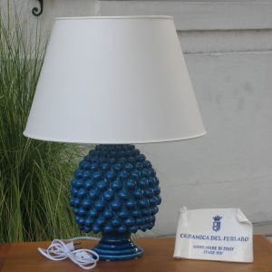 Ceramica Del Ferlaro - Pinecone Lamp (Medium) - Blue Paveri
