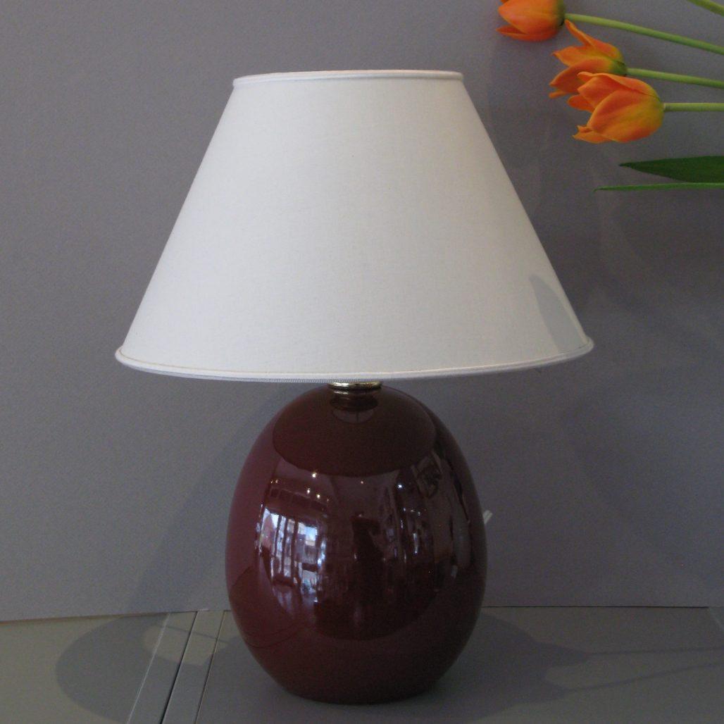 Ceramica Del Ferlaro - Egg Lamp (Small) - Bordeaux