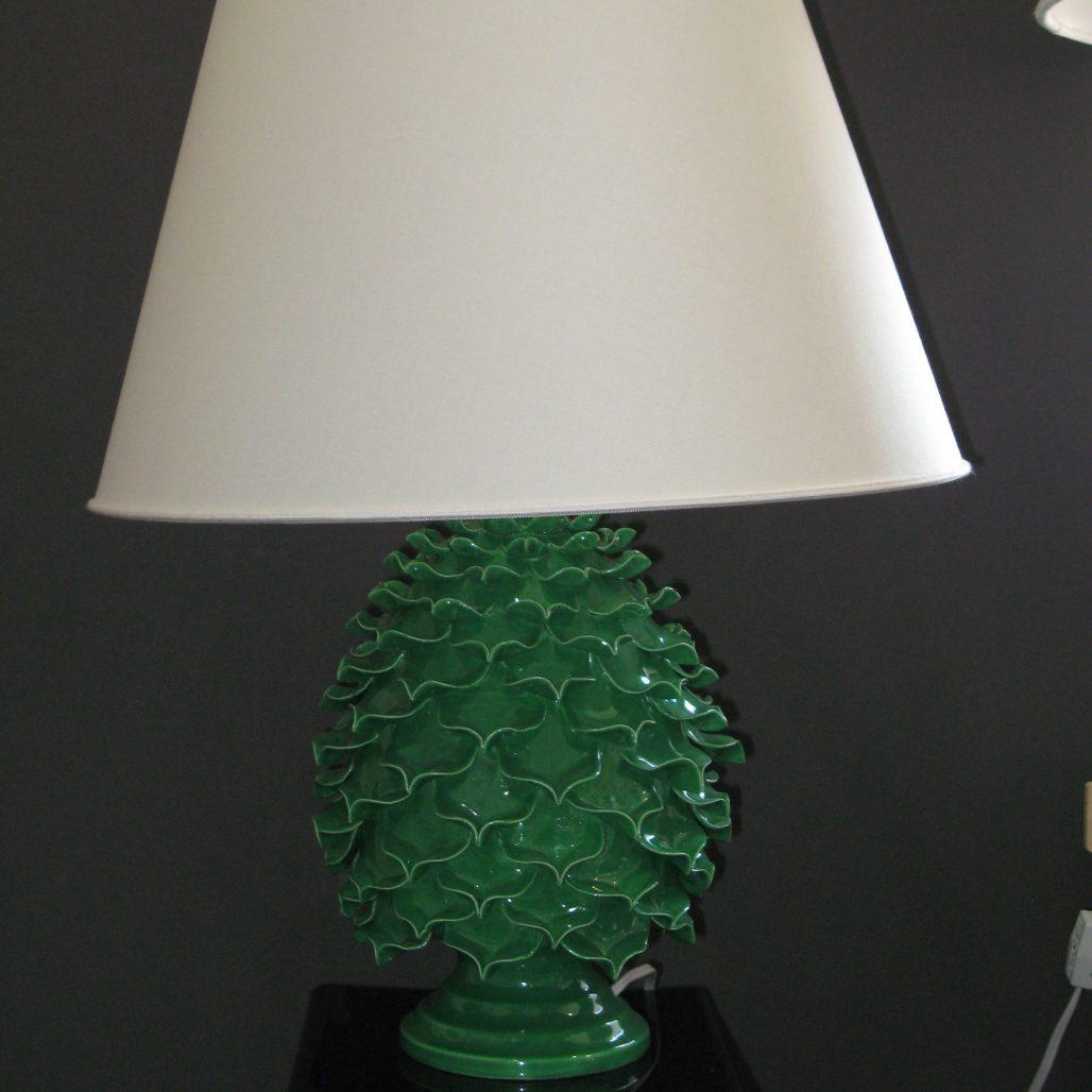 Ceramica Del Ferlaro - Open Pinecone Lamp - Apple Green