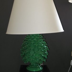 Ceramica Del Ferlaro - Open Pinecone Lamp - Apple Green