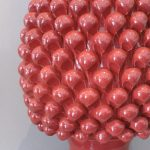 Ceramica Del Ferlaro - Pinecone Lamp - Dark Coral