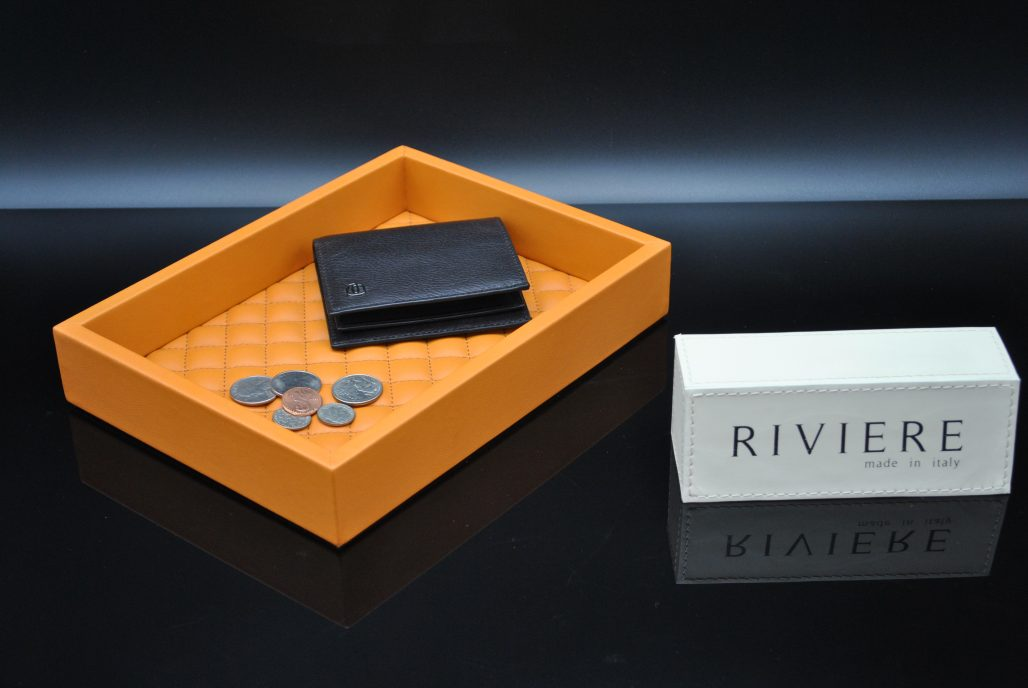 Riviere Luxury Tray - Leather Coin Tray