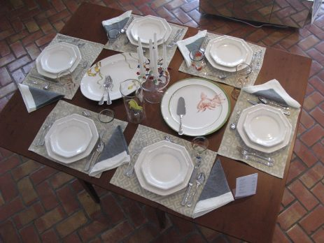 All Italian handmade dining setting