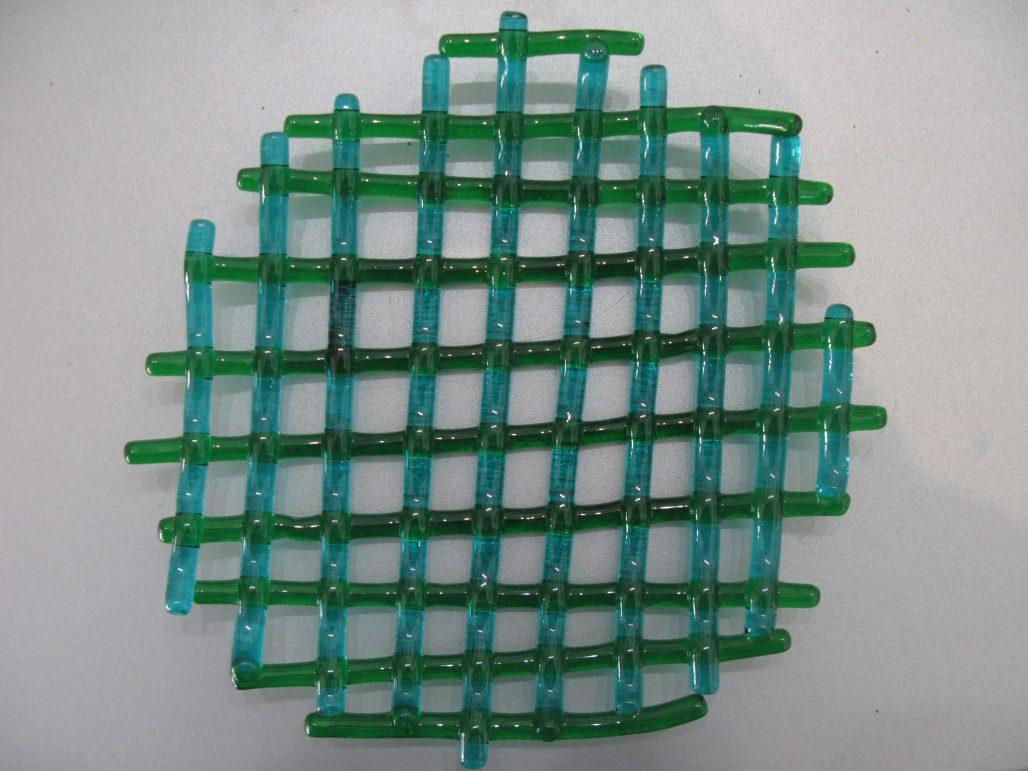 Massimo Lunardon Glass Centerpiece - Criss Cross