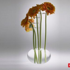 Massimo Lunardon Glass Vase - Gerbera