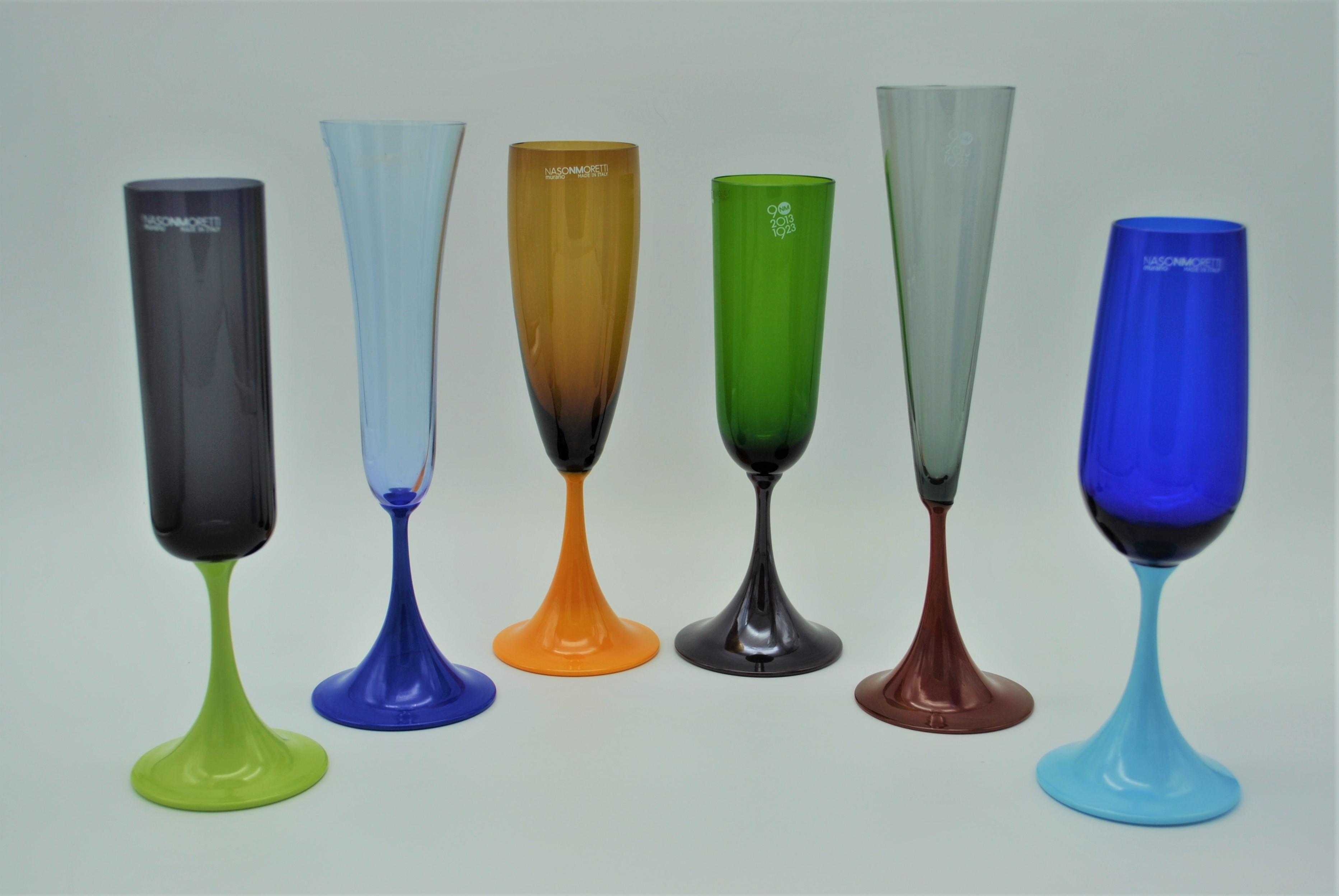 632551aaa7390 NasonMoretti Guepiere Flute Glasses